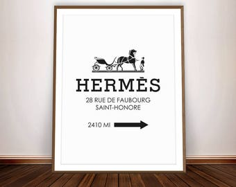 HERMES Paris * Hermes Poster Hermes Print Fashion Design Grafic Design Hermes Art Graphic Art Brands Fashion Paris Bedroom Decor Fashion Art