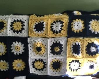 Sunburst Crocheted Baby Blanket