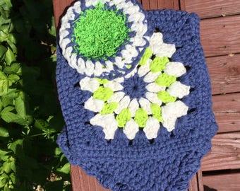 Crocheted Washcloth Set