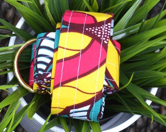 Multicolored African Wax Print Yoga Mat Strap/Sling