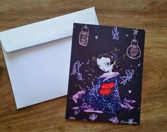 """Note card """"Spring Awakening"""""""