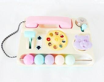 Vintage phone / pastel / 1980s