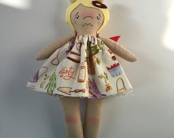 """10"""" Mini Cutie - OOAK Doll - Mini Doll - Fabric Doll"""