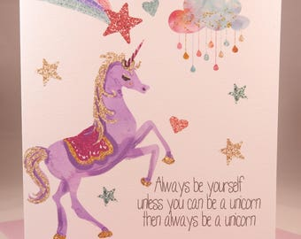 Magical Unicorn Birthday Card - daughters sisters and nieces