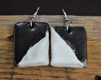 Unique Ceramic Drop Earrings