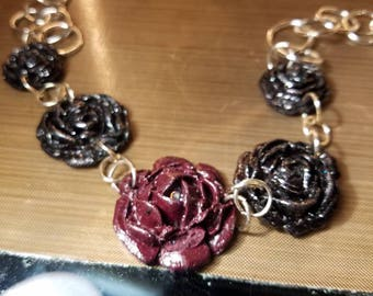 Sangria Rose chain link necklace.