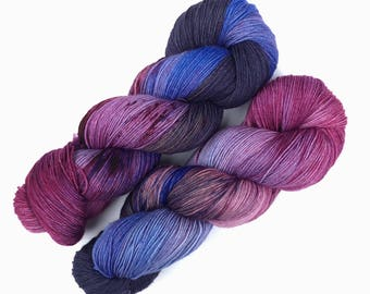 Cosmos - Ready to ship hand dyed sock yarn