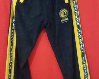 Free Shipping !!! Vintage Versace A.Versace Jogger Long Pant Embroidery Medusa Logo Tracksuit