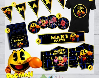 Pac-Man (Party KIT) - Pac-Man Invite - Pac-Man Birthday Party - Pac-Man Personalized - Pac-Man Printable - Pac-Man Occasion