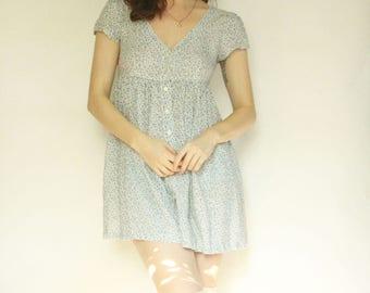 90s Floral Babydoll Dress XS
