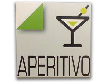 Aperitivo - Sign, bar sign, italian sign, shop sign, restaurant sign, food sign, kitchen sign, pub sign | Tropparoba - 100% made in Italy