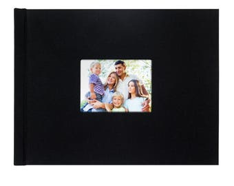 """Photobook (Do it Yourself, Pinchbook), 8.5""""x11"""" Landscape, Black Cloth, With Window (5/pack)"""