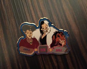 Scar Cruella Stepmother Villains Journey Through Time LE OC Disney Pin