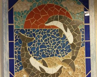 Dolphins Tile Mosaic Art