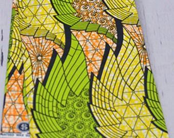 Lemon green and yellow ankara / African print / african fabric / ankara fabric / African fabric by the yard / African fabric wholesale