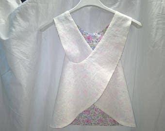 Japanese style Liberty dress / linen 9/12 months