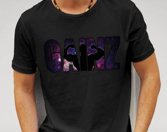 Mens Gainz Nebula Space Gym Fitness - Black T-shirt