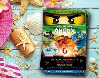 Ninjago Invitation / Ninjago Birthday / Ninjago Birthday Invitation / Ninja Party / Ninjago Printable / Ninjago Personalized / Ninjago-NR225