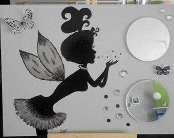 Table mirror, fairy dust star