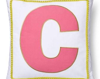 Girls Monogrammed Pillow Sham, C