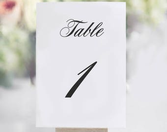 Table Number Template, Printable Table Numbers, Calligraphy Table Numbers Template, INSTANT DOWNLOAD, DIY Rustic Wedding Reception,pdf