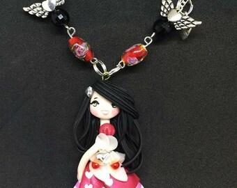 Medium necklace with pendant Valentine