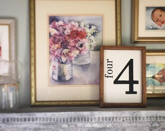 Family Number Sign   Gallery Wall Sign   Farmhouse Sign   Custom Family Number  