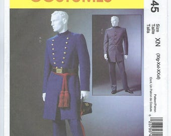 McCalls 4745 (XN) - MENS Civil War Costumes / XLG, Xxl, Xxxl