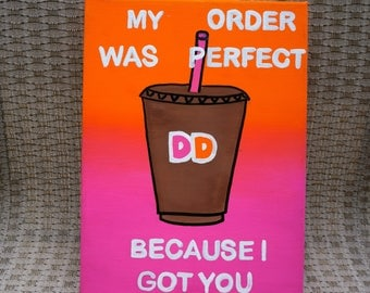 Dunkin Donuts Sorority Canvas