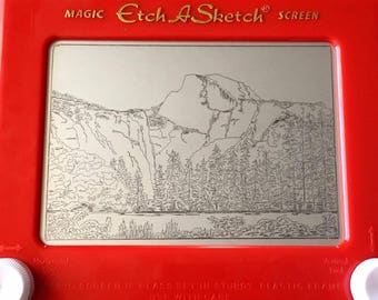 Custom Etch A Sketch Photo Print