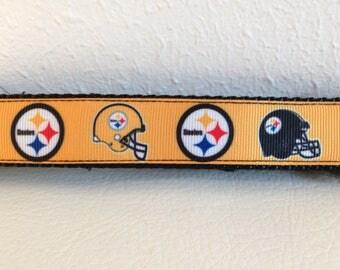 Adjustable Dog Leash, Steelers Adjustable Dog Leash, Black and Gold Dog Leash, Steelers Dog Leash