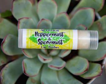 All-Natural Peppermint & Spearmint Lip Balm