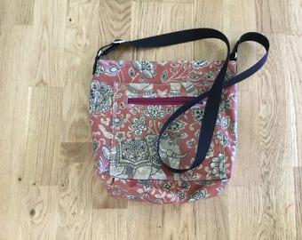 Handmade oilcloth fully lined handbag