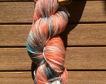 "Hand-dyed sock yarn ""Fish"" with bamboo"