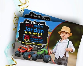Blaze and the Monster Machines Invitations,  Blaze Invitation, Blaze and the Monster Machines Party, Blaze and the Monster Machines Birthday