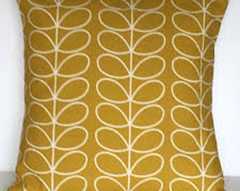 Orla Kiely Linear stem Cushion cover (Mustard)