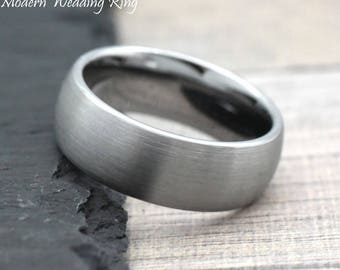 Classic Wedding Band Ring Mens, Men's Wedding Band Classic Domed Style, Engagement Ring for Him, His Wedding Band, Mens Gift Idea