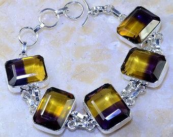 Bracelet in silver and ametrine