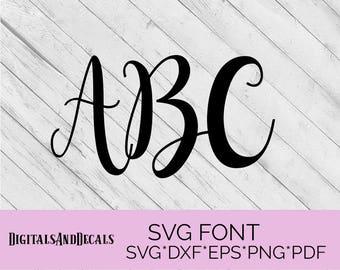 SVG Fonts, Hand Lettered SVG, Wedding Font SVG Fonts for Cricut Svg Bundles, Cursive Font Svg, Cameo Fonts for Silhouette, Script Svg Font