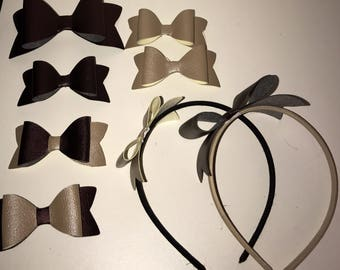 Hair Bow - Faux Leather
