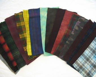 Dorr Mill Wool Fabric/Hand Dyed Bundle
