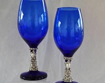 Cobalt Blue Chalices