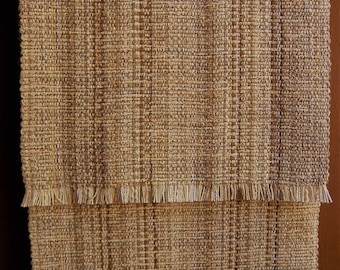 Natural Oatmeal handwoven, washable table runner