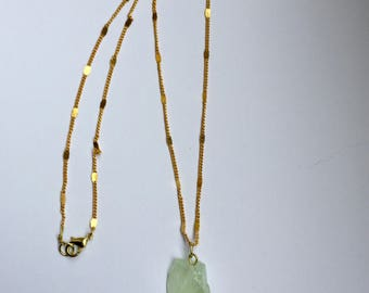Blue green calcite necklace