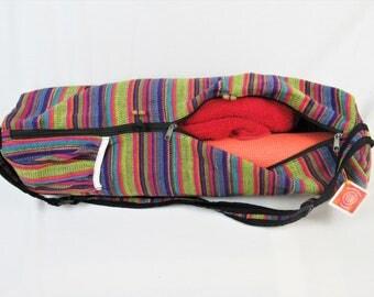 Yoga bag, tribal pattern, fair trade, handmade