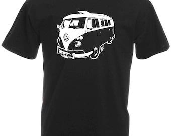 Classic VW Camper Van Retro T-Shirt