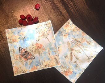 Zero waste--reusable snack bags--butterfly nature print--