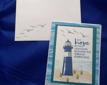 5 cards: encouragement cards that are handmade and inspirational.