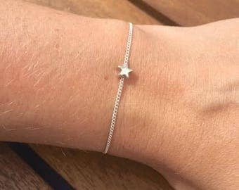 24/7 Jewelry Collection Bracelet Star-Wish Star-Minimalist-17 cm-Silver-Gold