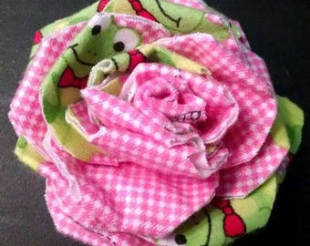 Fabric Rose Magnet #5 Frog Fabric